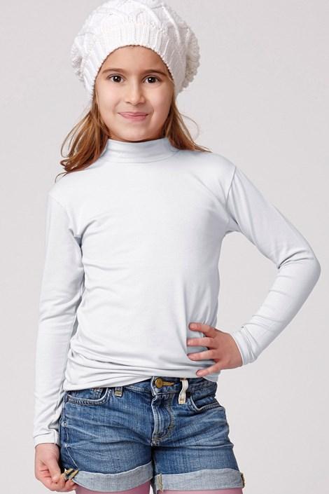 Jadea Dětské bavlněné triko se stojáčkem Jadea ... d37e3e9cc6