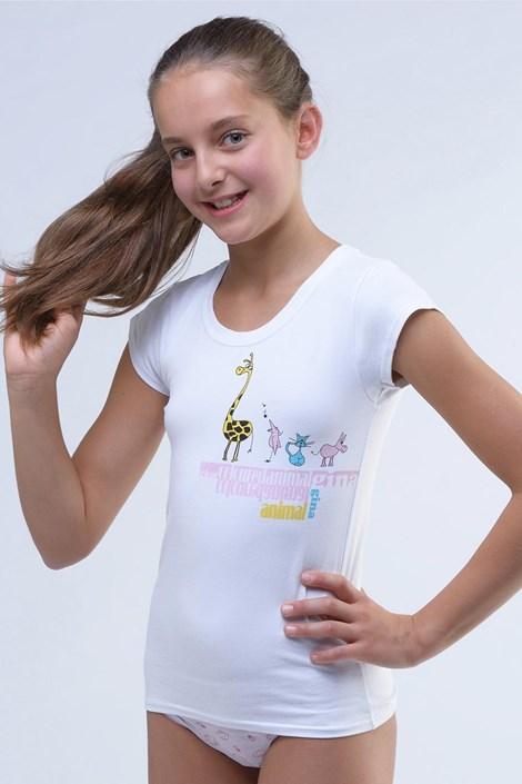 Gina Dívčí tričko Amazing bílé bílá 134/140
