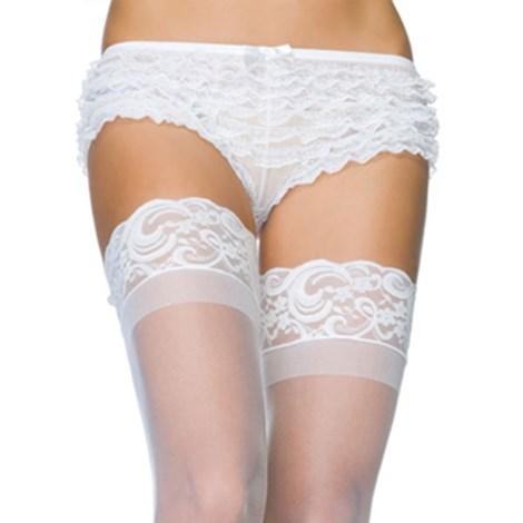 Leg Avenue Svůdné krajkové boxerky bílé bílá uni