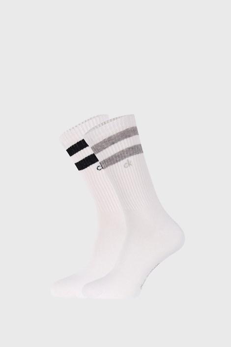 2 PACK bílých ponožek Calvin Klein Maurice