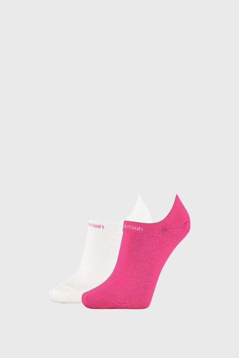 2 PACK dámských ponožek Calvin Klein Leanne růžovobílých