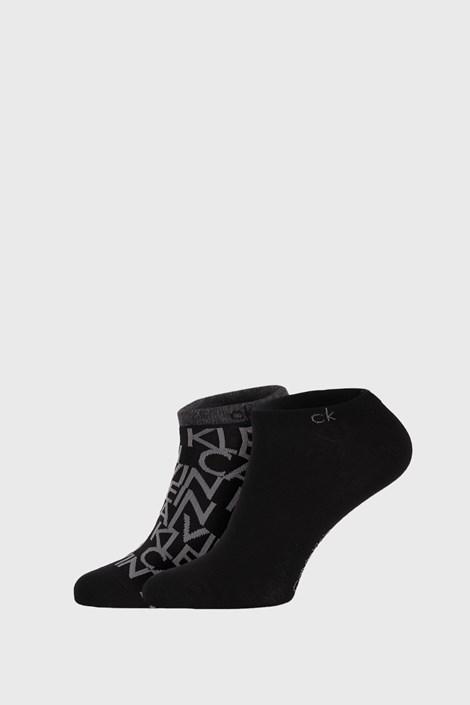 2 PACK černých ponožek Calvin Klein Deangelo