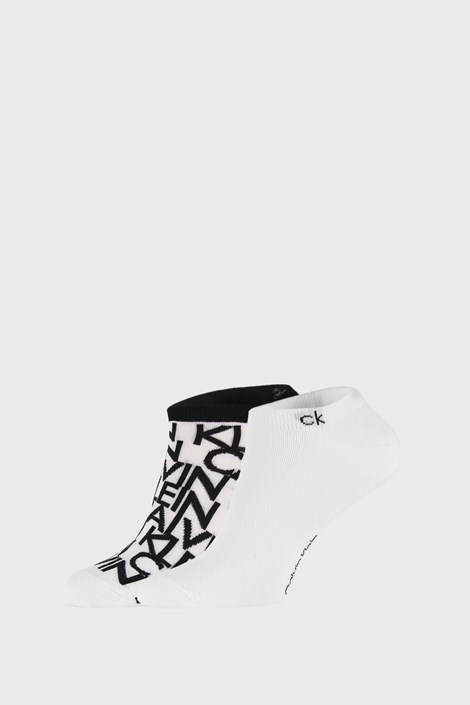 2 PACK bílých ponožek Calvin Klein Deangelo