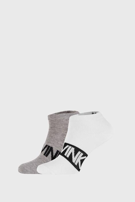 2 PACK šedobílých ponožek Calvin Klein Dirk