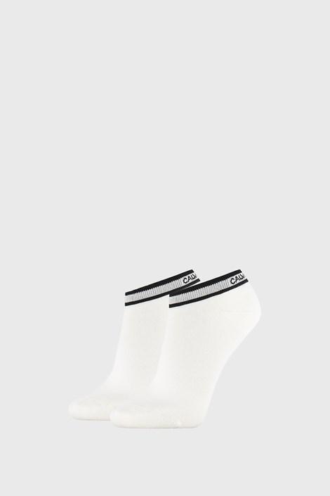 2 PACK bílých dámských ponožek Calvin Klein Spencer