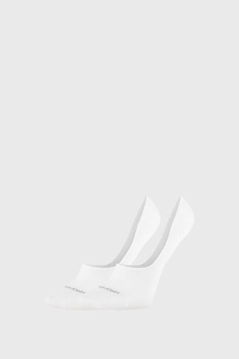 2 PACK dámských  ponožek Calvin Klein Jessica bílé