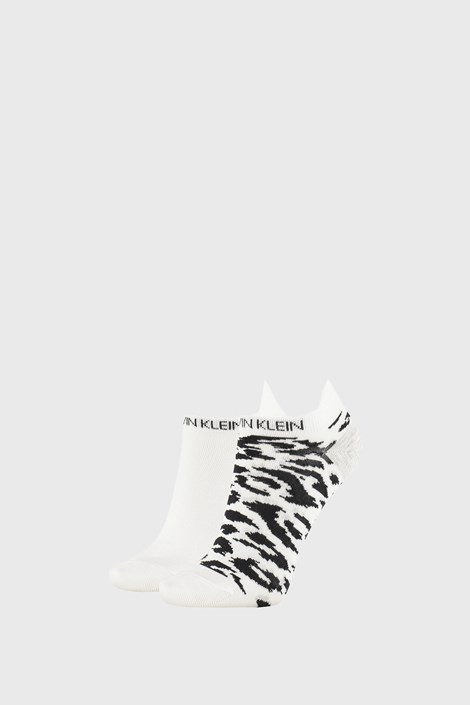 2 PACK dámských ponožek Calvin Klein Libby bílé