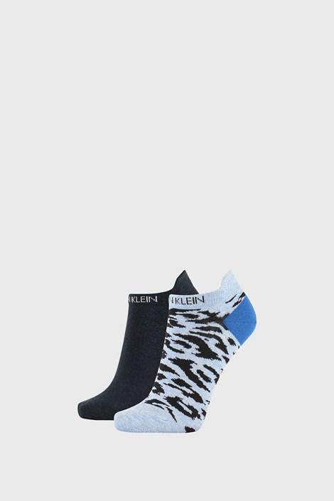 2 PACK dámských ponožek Calvin Klein Libby modré
