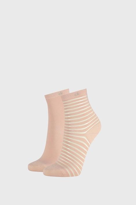 2 PACK dámských ponožek Calvin Klein Lilly růžové