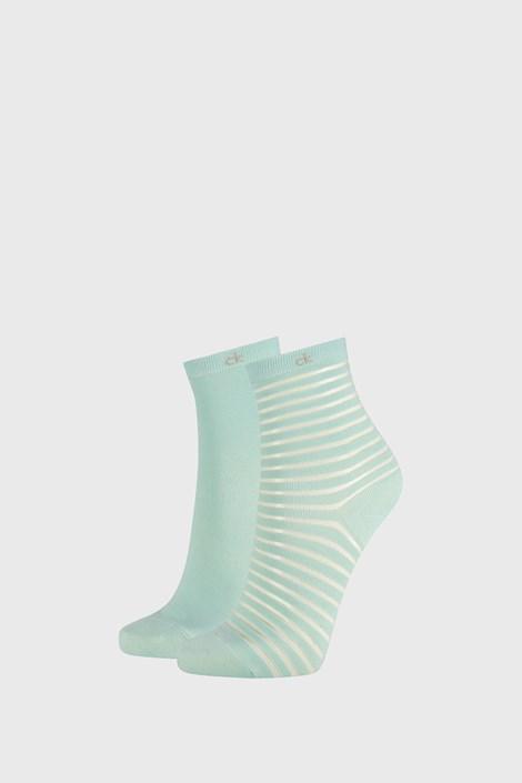 2 PACK dámských ponožek Calvin Klein Lilly zelené