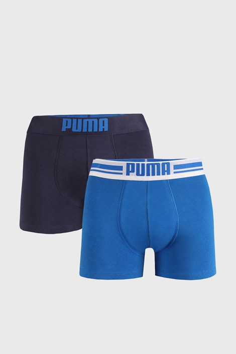 2 PACK modrých boxerek Puma Placed Logo