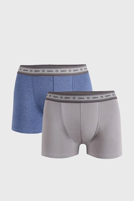 2 PACK šedomodrých boxerek DIM Ecosmart