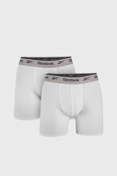 2 PACK bílých boxerek Reebok Basic Sport