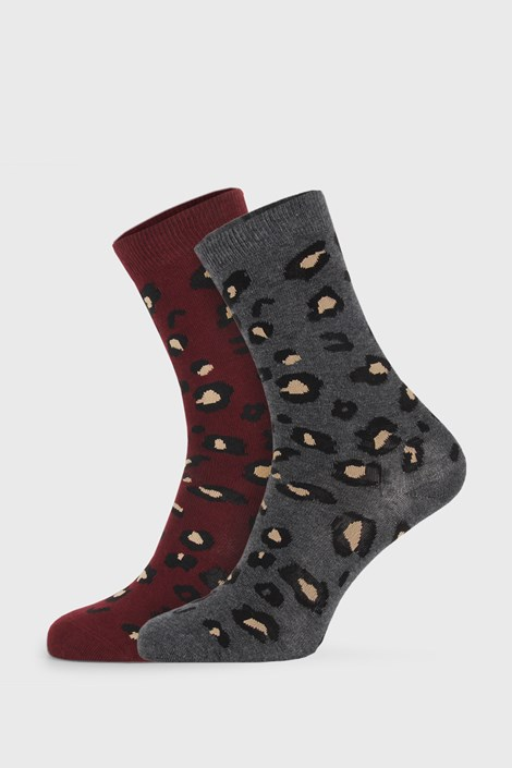 2 PACK dámských ponožek Cheetah