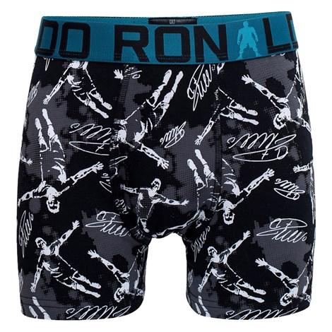 CRISTIANO RONALDO 2 pack chlapeckých boxerek Christiano Ronaldo II šedočerná 7/9