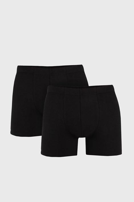 2 PACK černých boxerek Uomo Cotton