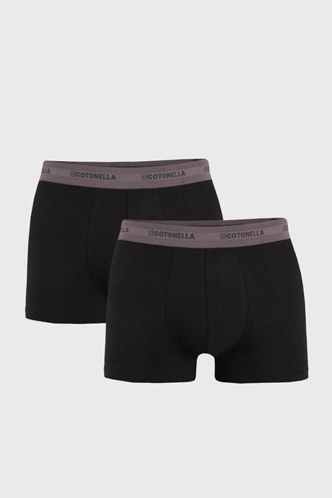 2 PACK šedočerných boxerek Uomo Comfort
