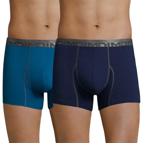 DIM 2 pack pánských boxerek DIM Cotton 3D Flex modrá XXL