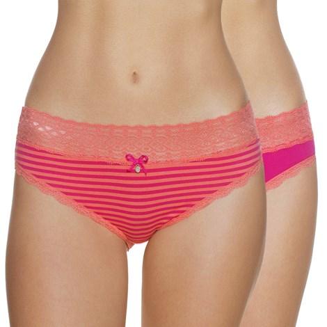 Lama 2 pack klasických kalhotek Elisa růžová XL