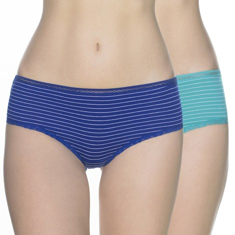 Lama 2 pack klasických kalhotek Eliane barevná XL