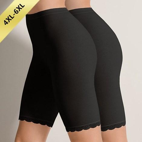 COTONELLA 2 pack kalhotek s dlouhou nohavičkou Greta 01 černá 4XL