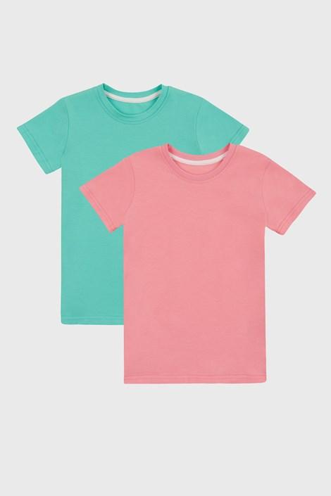 2 PACK dívčích basic triček