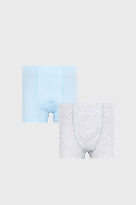 2 PACK modrošedých chlapeckých boxerek Basic