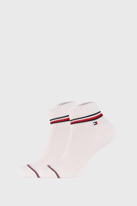 2 PACK bílých kotníkových ponožek Tommy Hilfiger Iconic