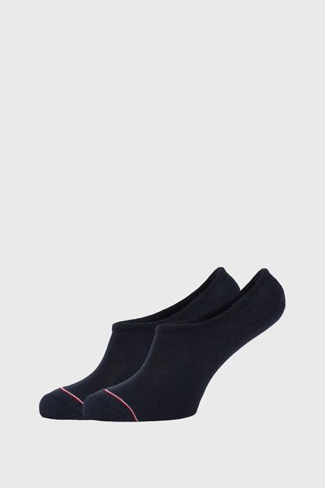 2 PACK modrých nízkých ponožek Tommy Hilfiger Iconic