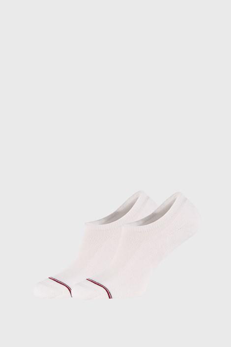 2 PACK bílých nízkých ponožek Tommy Hilfiger Iconic