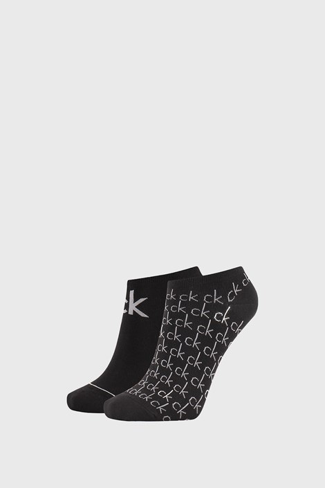 2 PACK dámských černých ponožek Calvin Klein Callie