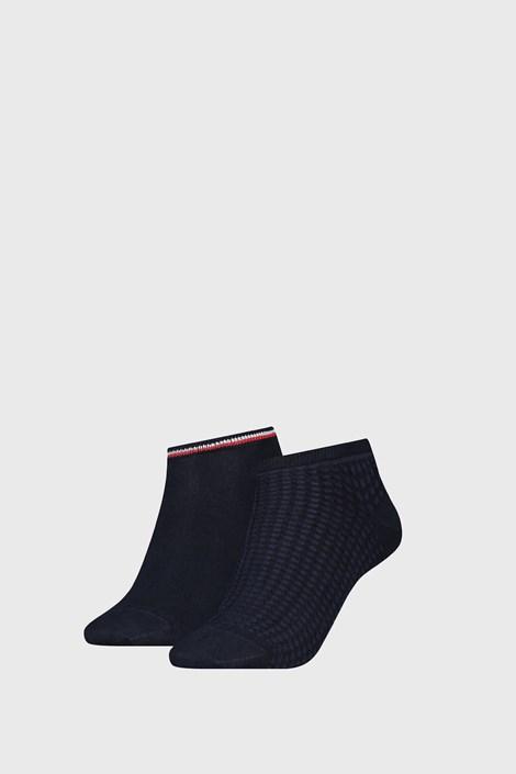2 PACK dámských ponožek Tommy Hilfiger Waffle Navy