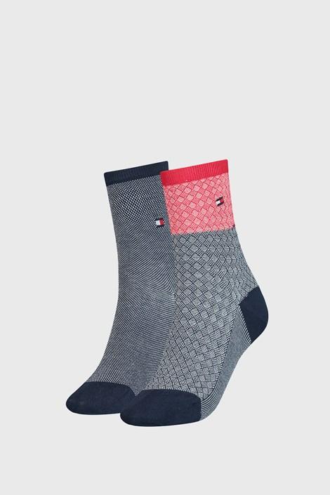 2 PACK dámských ponožek Tommy Hilfiger Argyle I