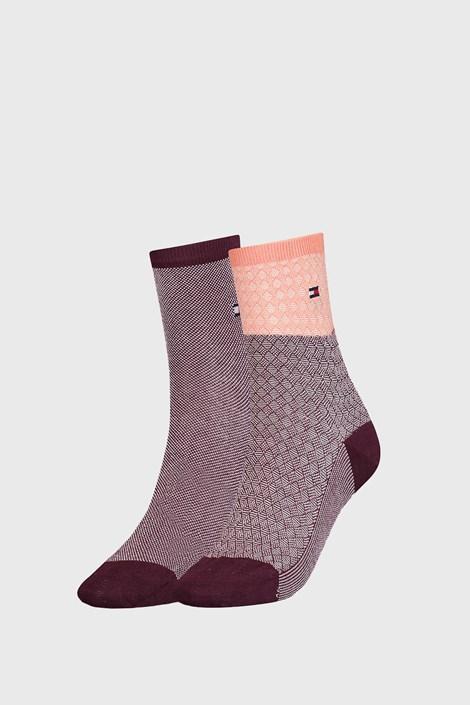 2 PACK dámských ponožek Tommy Hilfiger Argyle II
