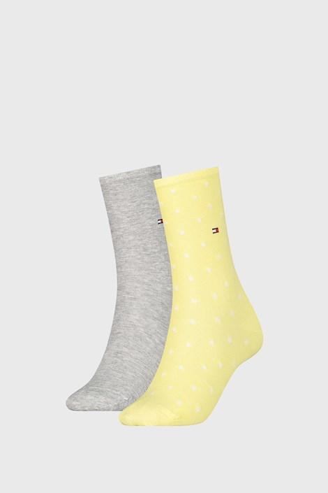 2 PACK dámských ponožek Tommy Hilfiger Dot Yellow