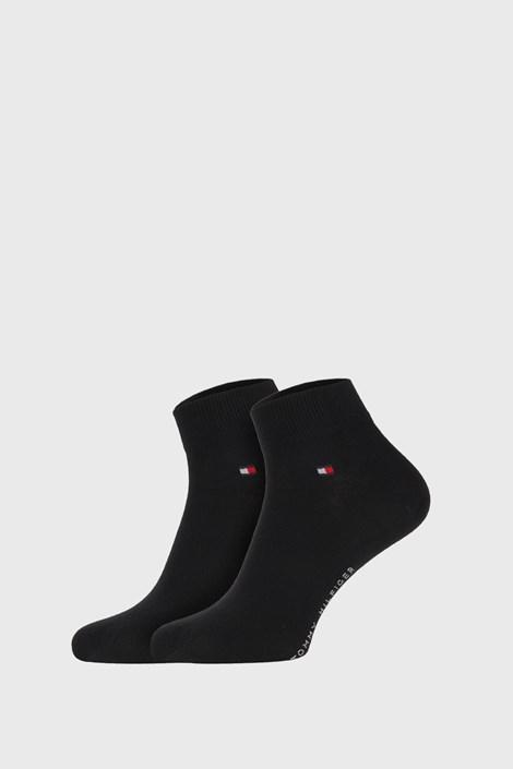 2 PACK černých ponožek Tommy Hilfiger Quarter