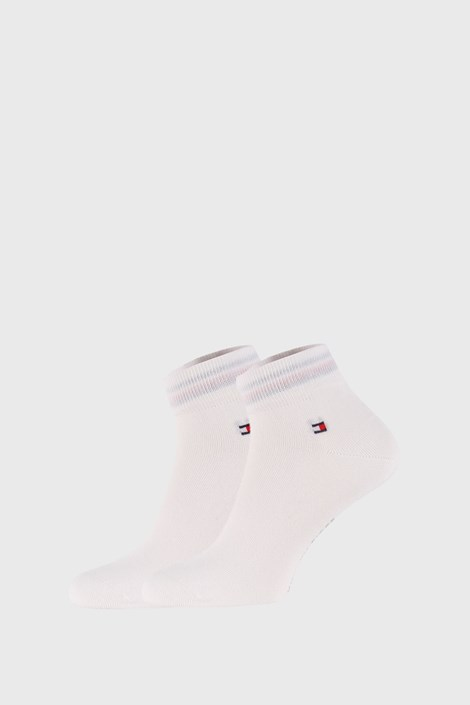 2 PACK bílých ponožek Tommy Hilfiger Quarter