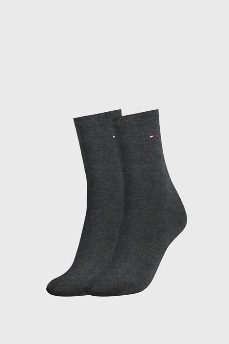 2 PACK tmavěšedých dámských ponožek Tommy Hilfiger Casual