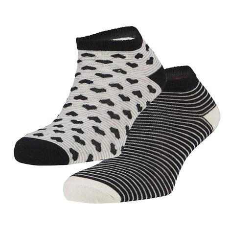 Ysabel Mora 2 pack ponožek Ibby černá uni