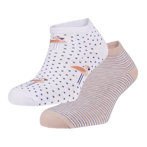 Ysabel Mora 2 pack ponožek Renee růžová uni