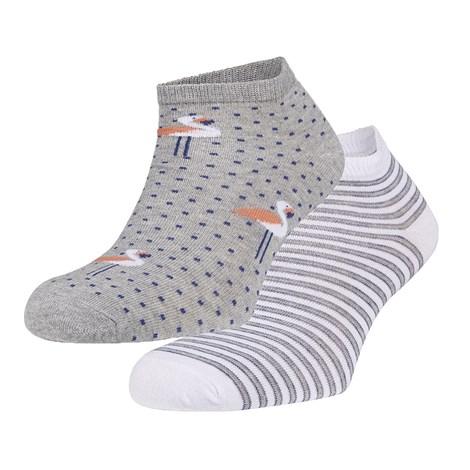 Ysabel Mora 2 pack ponožek Renee šedá uni