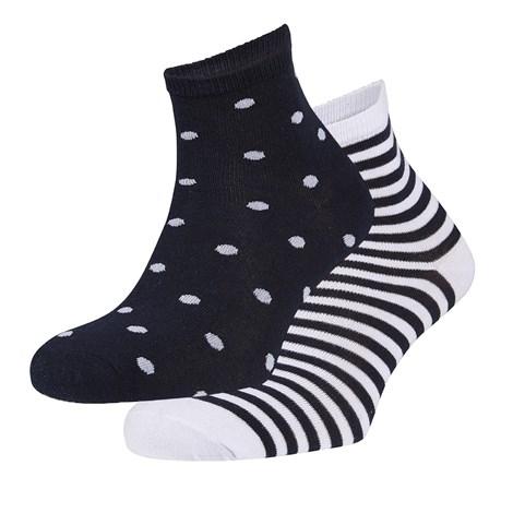 Ysabel Mora 2 pack ponožek Claire černá uni