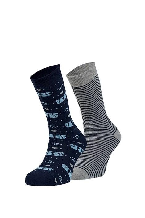 Ysabel Mora 2 pack hřejivých ponožek Wendy modrošedá uni