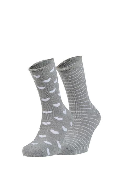 Ysabel Mora 2 pack hřejivých ponožek Tina šedá uni