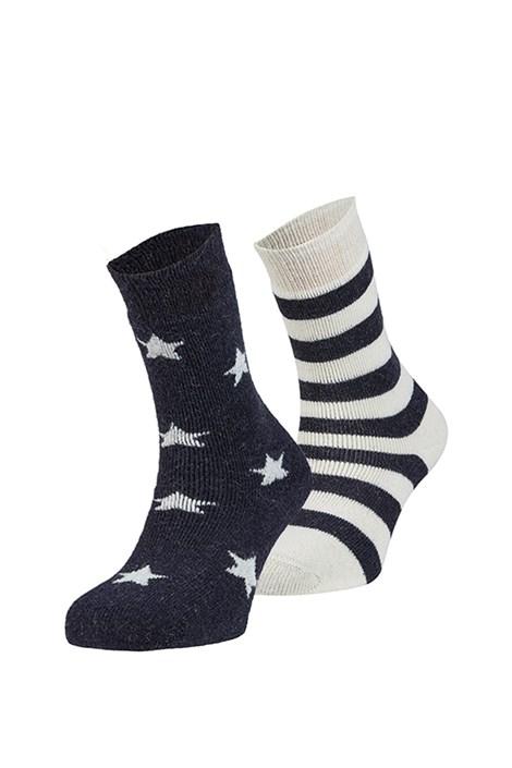 Ysabel Mora 2 pack hřejivých ponožek Estrella béžovomodrá uni