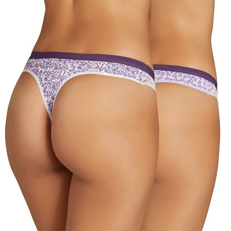 Ysabel Mora 2 pack tang Violetta fialová S