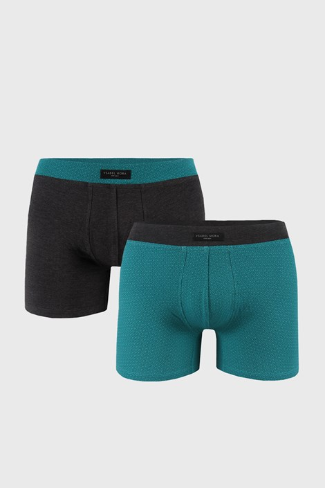 2 PACK zelenošedých boxerek