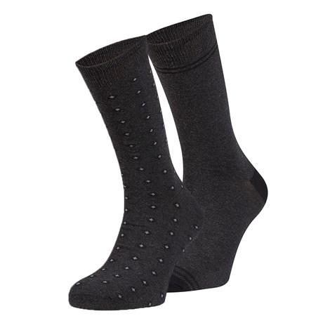 Ysabel Mora 2 pack ponožek Raul černá uni