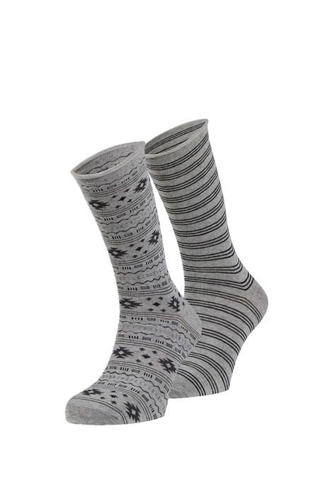 Ysabel Mora 2 pack ponožek Elias šedá uni
