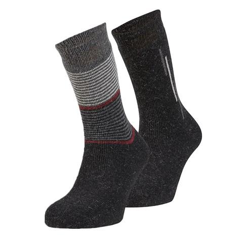 Ysabel Mora 2 pack hřejivých ponožek Sergio černá uni